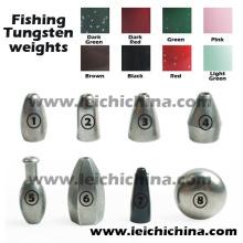 Pesos de tungstênio de pesca no atacado