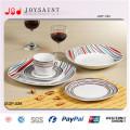 China Fabrik neue Design Keramik Esszimmer Sets Dessertteller für Hotel verwenden