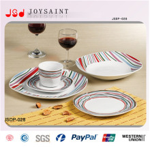 China Factory New Design Ceramic Dinnersets Dessert Plates for Hotel Use