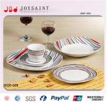 China Factory New Design Cerâmica Dinnersets Sobremesa Placas para Uso Hotel