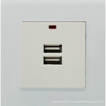 De Buena Calidad Enchufe de alimentación universal solo del zócalo doble del cargador de la pared del USB de la fuente