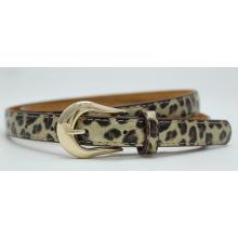 Fashion ladies léopard imprimé PU ceinture