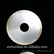 Hoja de corte de diamante de 120 mm de diamante súper fino cuchillas de corte de diamante 1mm