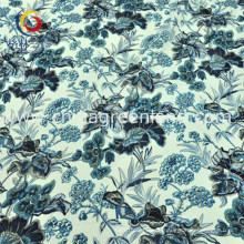 Cotton Polyester Spandex Satin Printed Fabric for Woman Dress (GLLML198)