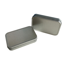 No Printing Rectangle Shape Tin Box Packaging Wholesale Container
