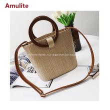Модная пляжная сумка простая соломенная женская сумочка