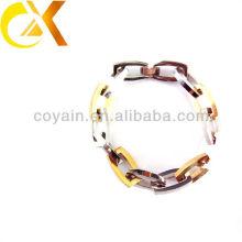 Pulsera de cadena de oro y plata de la joyería 316L de las mujeres de moda