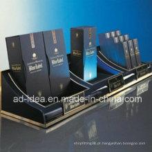 Rack de acrílico preto útil Stand / Display para cosméticos