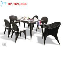 Fishbone tissage table et chaise avec coussin (2063)