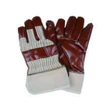 Jersey Liner Glove, Stripe Polyster Back Nitrile Impregnated, PE Safety Cuff