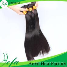 Pelo humano brasileño de la Virgen Remy del pelo recto de Weavon de la calidad superior