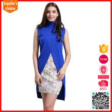 Neue sleeveless strickende Musterstrickjackeweste der neuen Entwurfsfrauen lang