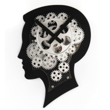 Reloj de pared de cerebro humano