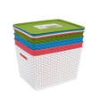 Plastic Ratton Storage Box With Lid