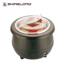Chifre de sopa elétrica de aço inoxidável C106 10L com tampa de policarbonato