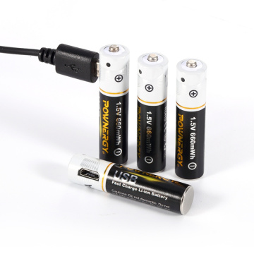 Batteria AAA ricaricabile con caricabatterie