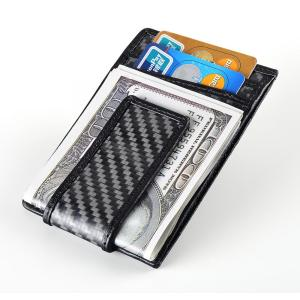 Carbon fiber RFID Blocking card holder