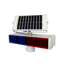 Solar LED traffic warning light