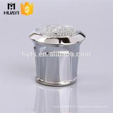 luxury zamac diamond shaped perfume bottle cap