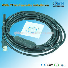 Cámara de inspección de la tubería del USB de la alcantarilla de la prenda impermeable 15M