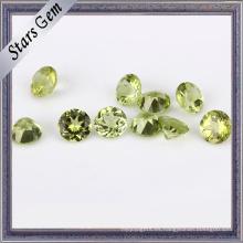 Piedra preciosa de peridoto natural redonda verde oliva