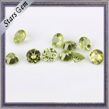 Olive Green Round Natural Peridot Gemstone