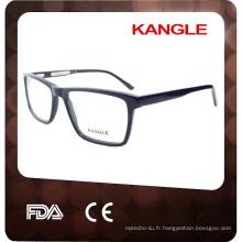 Style de haute qualité de l'Italie rencontrent CE FDA avec les lunettes de cadre d'acétate de charnière de ressort