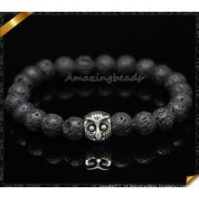 Natural Black lava pulseiras, coruja Fingding pulseiras (CB091)