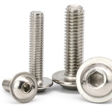 ISO7380 Stainless Steel 304 M3 M4 M5 M6 M8 Pan Mushroom Hex Flange Socket Head Bolt with Washer Attached