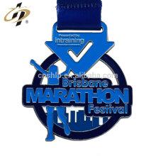Medalla de premio de maratón de metal antiguo de aleación de zinc personalizada con logotipo propio