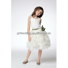Guangzhou Elegante Vestidos Pequenos para Meninas Casando Vestidos Formais Designs Flower Girl Dress of 9 Year Old Patterns