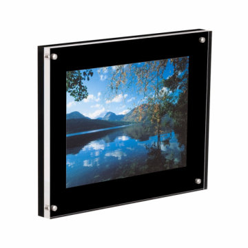 Transparent and Black Acrylic PMMA Photo Frame