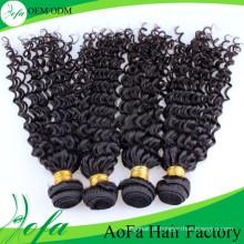 Extensão 100% não processada do cabelo do Virgin de Remy do cabelo humano de Aofa Remy