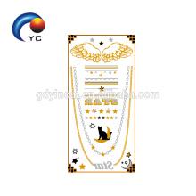 """Just Full of Metallic"" Fake Human Body Art Boho Metallic Gold and Silver Tattoos (Customized Design)"
