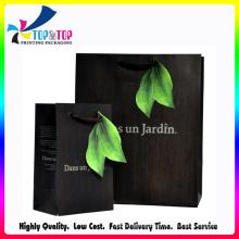 Shenzhen Factory Wholesale Kraft Shopping sac en papier noir