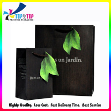 Fábrica de Shenzhen Atacado Kraft Shopping Black Paper Bag