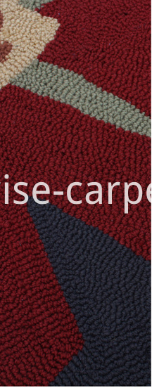 Hand Hooked Rug Carpet Dark Grey