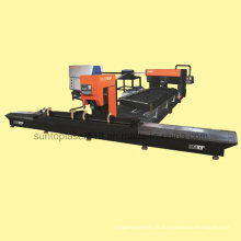 Machine de découpe laser à bois ronde et plate à bois pour bois industriel