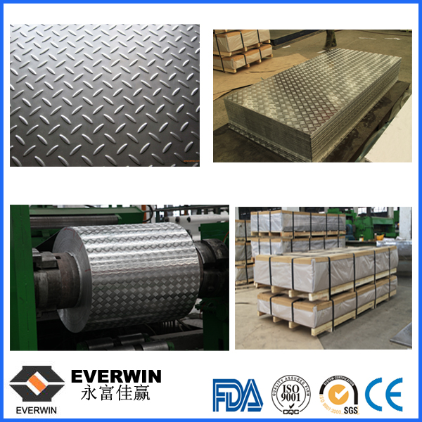 Aluminium 5-Bars Checker Plate With Different Thickness For Truck