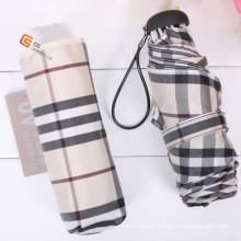 Check Fabric Carton 5 Folded Umbrella (YS-5F1003A)