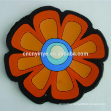 Custom flower shape PVC embossing drink coaster rubber placemat