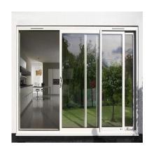 Lingyin Matériaux de construction Porte coulissante en aluminium à double vitrage à coupure thermique pour salle de réunion