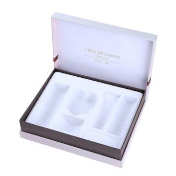 Caixa de presente cosmética personalizada de madeira / papel da exposição dos cuidados com a pele