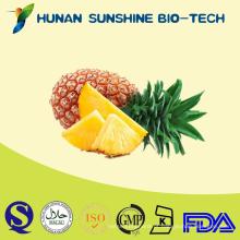 Extrato de abacaxi em pó de bromelaína não-OGM, extrato de ananás sativus, pó de enzima bromelina