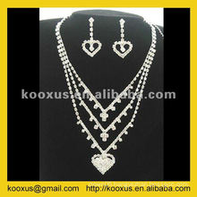 High quality bridal wedding jewelry set from China Yiwu Market