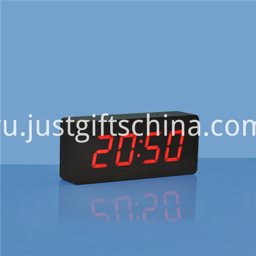 Promotional Logo Printed Rectangle Wooden Clock 2