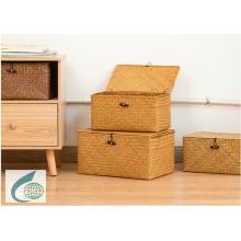 stockage de tissage d'herbe de matelas et panier de collecte