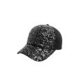 Gorra de béisbol de cuero y ante marrón