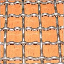 Aço carbono baixo / aço frisado frisado fábrica de malha de arame
