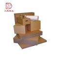 Nouvelle boîte de papier de carton pliable brun recyclable de taille personnalisée